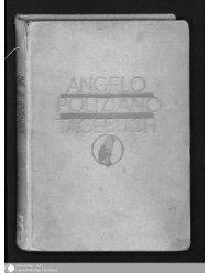 Angelo Polizianos Tagebuch (1477 - 1479)