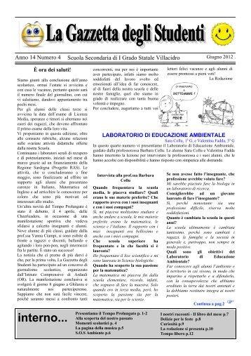 """La Gazzetta degli Studenti a.s. 2011-2012 n. 4 - """"Loru + Satta ..."""
