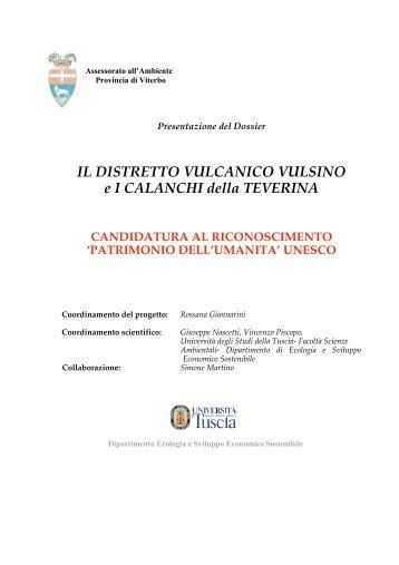 dossier UNESCO - Provincia di Viterbo