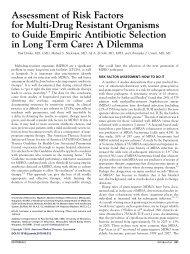 Assessment of Risk Factors for Multi-Drug Resistant Organisms to ...