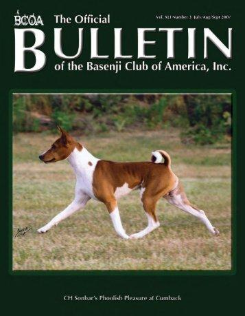BCOA Bulletin January-February-March 2007 - the Basenji Club of ...