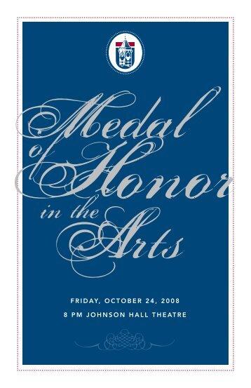 friday, october 24, 2008 8 pm johnson hall theatre - Winthrop ...