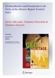 Geomorphosites and Geotourism in the Parks of ... - Regione Abruzzo