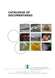 CATALOGUE OF DOCUMENTARIES - SD Cinematografica