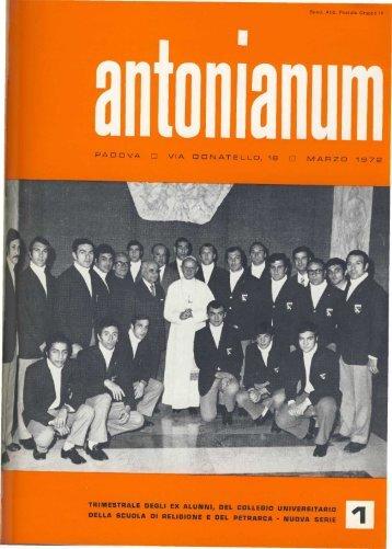 Marzo - Ex-Alunni dell'Antonianum