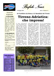Bufalo news n. 11 tirreno adriatica small - Gruppo Sportivo TURBIKE