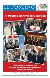 October 2008 PDF Vol. 9 No. 3 - Il Postino Canada