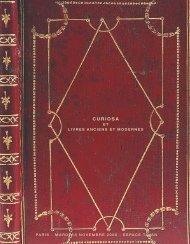 Livres Anciens et Modernes - Curiosa - Tajan