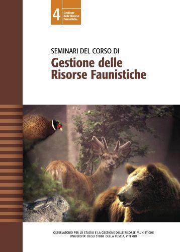 Seminari del corso di Gestione delle risorse faunistiche