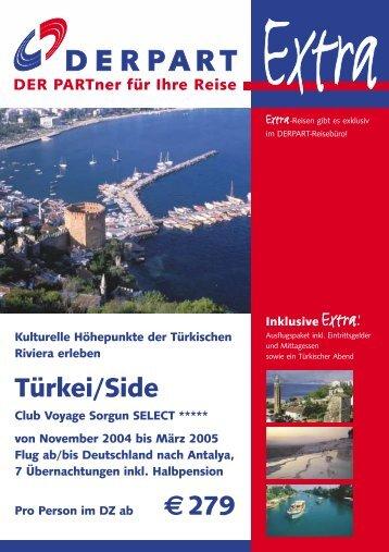 Türkei/Side €279 - DERPART REISEN