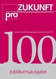 ProZukunft 100 Jahre Jubiläumsausgabe - WBG Zukunft