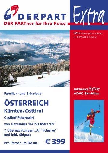 ÖSTERREICH €399 - DERPART REISEN