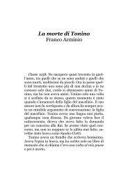 La morte di Tonino Franco Arminio - Il primo amore