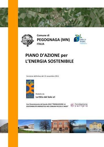 PIANO D'AZIONE per L'ENERGIA SOSTENIBILE - Covenant of Mayors
