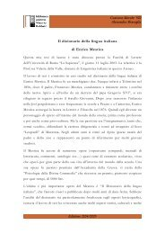 Il dizionario della lingua italiana di Enrico Mestica