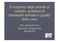 Il trasporto degli animali al macello: problemi di benessere ... - ASL AL