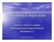 Lo studente di origine araba (Francesca Della Puppa)