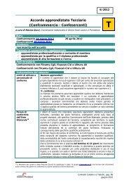Accordo apprendistato Terziario (Confcommercio - Confesercenti)