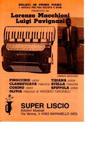 Lorenzo Macchioni Luigi Pavignani SUPER LISCIO - edizioni ...