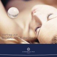 Vortrag zur BIOBALANCE der Haut - Lombagine.com