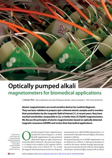 Optically pumped alkali magnetometers for biomedical applications