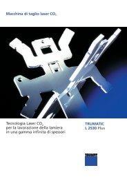 Macchina di taglio laser CO2 TRUMATIC L 2530 ... - Betto Macchine