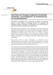 Pressemitteilung Open Data nach Aussage europäischer ... - Steria