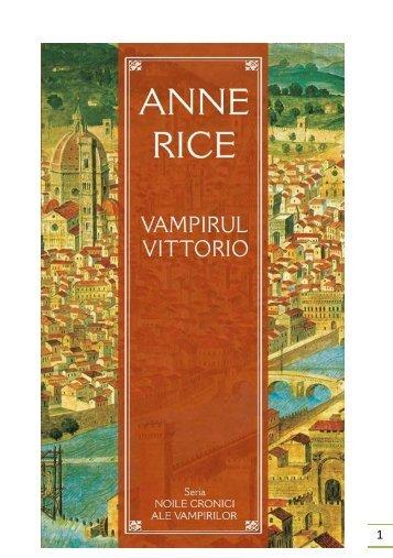 Anne Rice – Vampirul Vittorio - CARTE BUNA