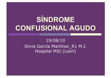 SÍNDROME CONFUSIONAL AGUDO - Servicio de Medicina Interna ...