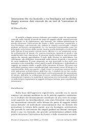 Interazione fra via lessicale e via fonologica nel modello a doppio ...