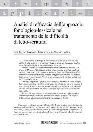 Analisi ed efficacia dell'approccio fonologico-lessicale nel ...