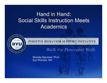 Hand in Hand - McKay School of Education - Brigham Young ...