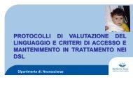 protocollo di valutazione dai 24 ai 36 mesi livello comportamentale