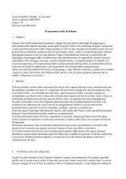 1H italiano latino geografia programmi - Liceo scientifico Albert ...