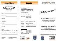 Solist, na und? - Weiterbildungszentrum Ingelheim