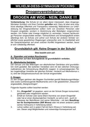 Download Drogenvereinbarung - Wilhelm-Diess-Gymnasium Pocking