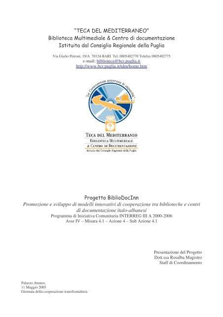 Biblioteca Multim ediale & Centro di docum entazione Istituita dal ...