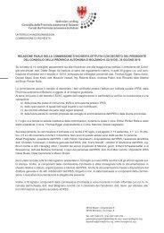relazione finale della commissione d'inchiesta istituita con decreto ...