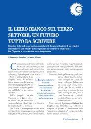 IL LIBRO BIANCO SUL TERZO SETTORE: UN ... - Volontariato Lazio