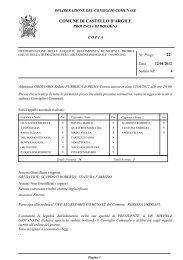 Determinazione delle aliquote dell'Imposta Municipale - Comune di ...