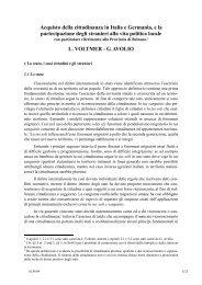 Le competenze legislative previste dallo statuto - Brennercom