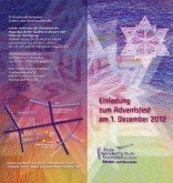 Einladung zum Adventsfest am 1. Dezember 2012 - Freie ...