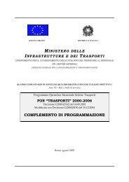 complemento di programmazione - Ministero delle Infrastutture e ...