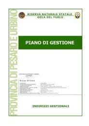 Indirizzi Gestionali - Riserva Naturale Statale Gola Del Furlo