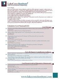 Calendario Corsi Nazionali 2013 - Lake Como Institute