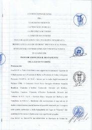 Accordo di Programma - Regione Piemonte