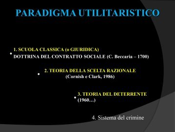 Il paradigma utilitaristico - e-mail: vettorato@unisal.it