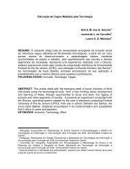 Educação de Cegos Mediada pela Tecnologia - Secretaria ...