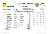11. KCL Rallye-Sprint