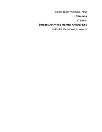 Exploraciones Activities manual Key